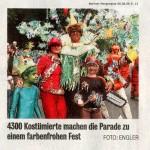 Zeitungsbild des Kapokbaums mit Tieren und Holzfäller