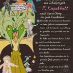 Plakat mit Kostümenwürfen und Kurzkonzept
